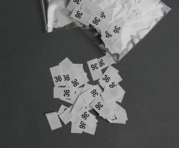 Raktárról kapható méretjelző ruhacímkék - számos