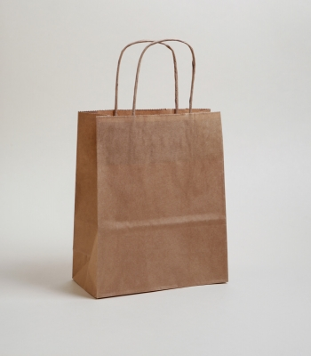 Sodrottfüles papírtáska 25x30,5x11 cm barna