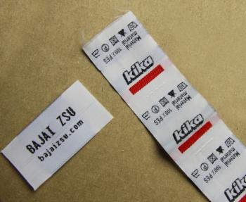 Egyedi gyártású szövött címke - taft alapanyag