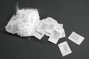 Raktárról kapható univerzális címke - kézzel jelölhető