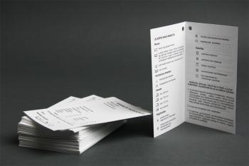4 oldalas vásárlói tájékoztató papírcímke